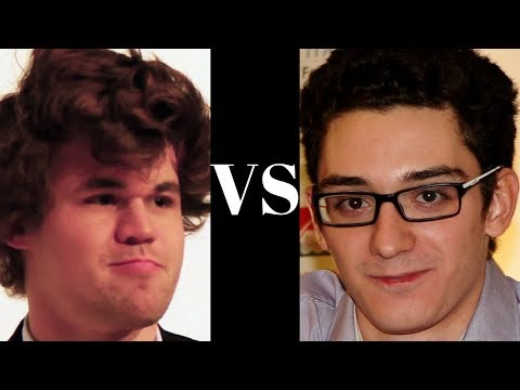 The very first  historical classical encounter between Magnus Carlsen and Fabiano Caruana