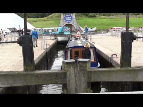 Going through the locks at the Falkirk Wheel