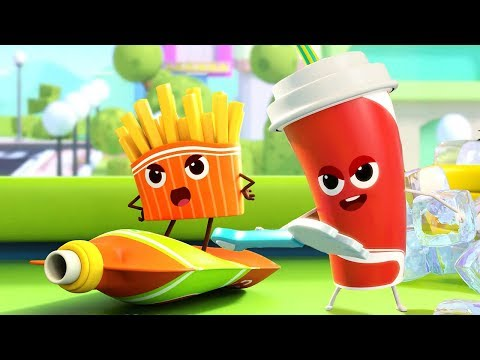 Hamburger and Cola Song  Colors Song Ice Cream  Nursery Rhymes Kids Songs Kids Cartoon BabyBus