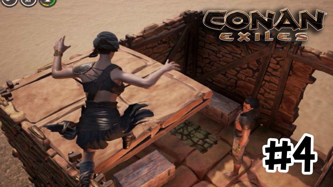 Conan Exiles serverThai #4 เนียนเข้าบ้านคนอื่น - YouTube