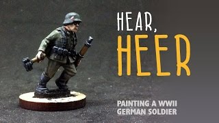 Video Hear, heer: Painting a WWII German soldier download MP3, 3GP, MP4, WEBM, AVI, FLV Agustus 2018