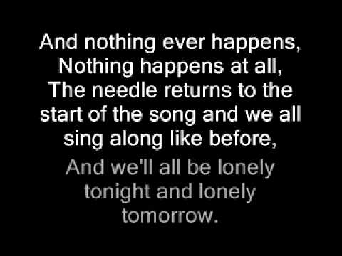 Del Amitri, Nothing ever happens lyrics, In sync with song