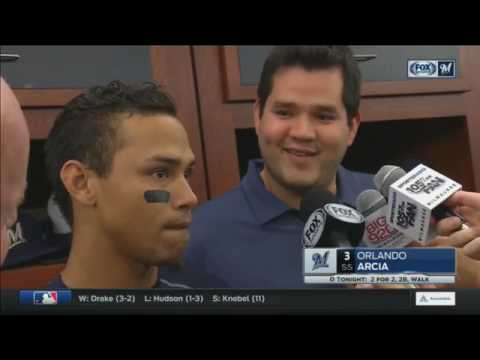 Brewers' Orlando Arcia on his game-winning throw to first