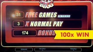 Quick Hits Slot Machine Big Win - 25 Spin Retrigger Bonus Round!
