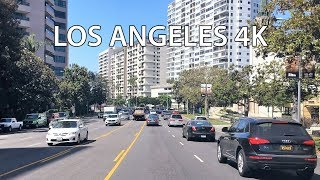 Los Angeles 4K - Westwood - Driving Downtown USA
