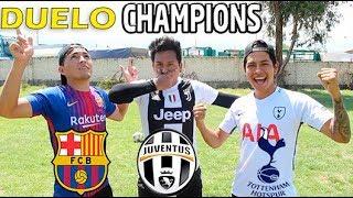 !! RETO CHAMPIONS LEAGUE !!⚽️ JUVENTUS vs BARCĄ vs TOTTENHAM !! ( predicción )