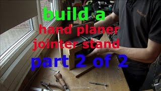 Bench Mount For Power Planer, Jointer Part 2 (of 2)