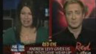 Andrew Levy throws Alison Rosen off Red Eye set