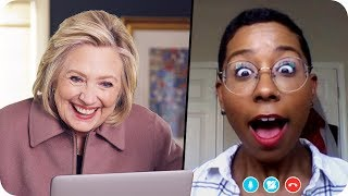 Hillary Clinton Surprises Fans with Big News // Omaze