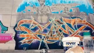 McLuc Culture Crew - Graffiti Live Painting Don Milani School gym