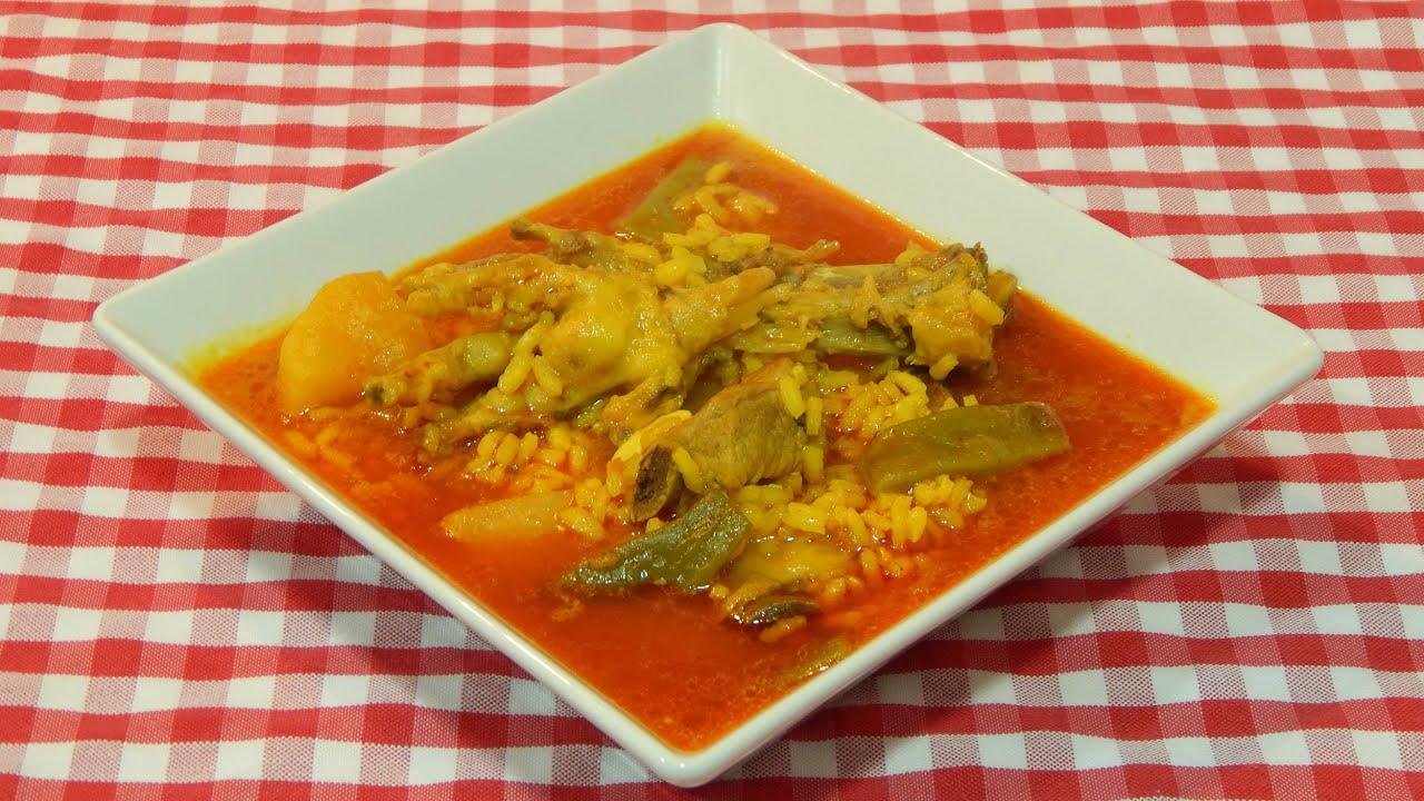 Receta de arroz caldoso con patas de pollo y costilla de - Arroz con verduras y costillas ...