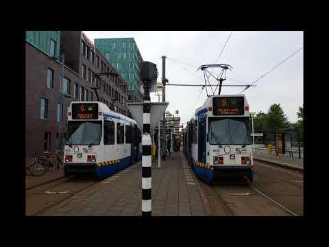 GVB Tram line 5 at Binnenhof in Amstelveen