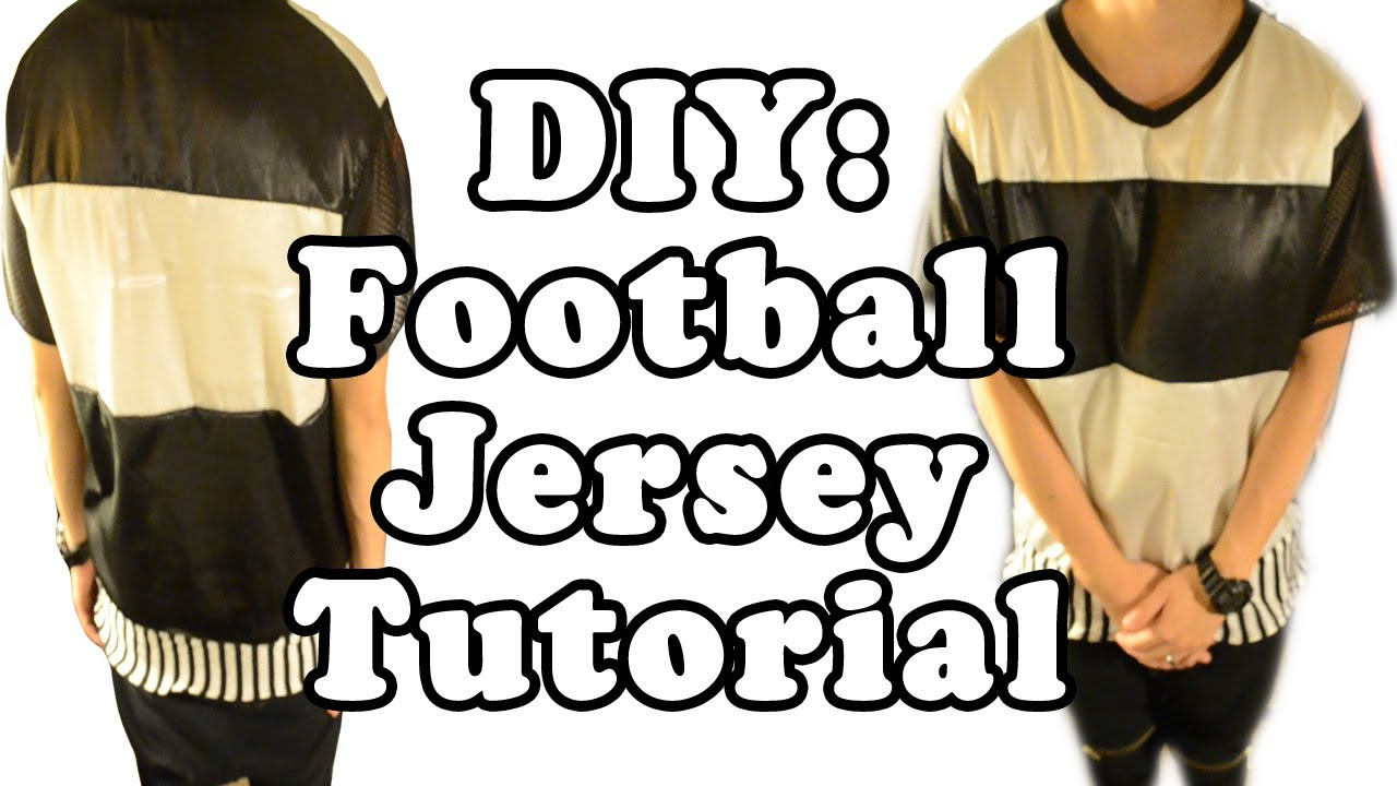 DIY: Black and White Football Jersey Tutorial