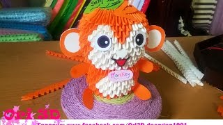 Tutorial Monkey 3D Origami - Hướng dẫn xếp con khỉ Origami 3D