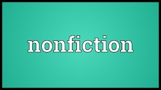 Nonfiction Meaning