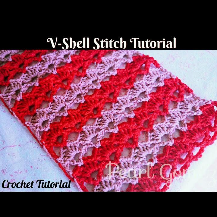Crochet Made Easy How To Make The V Shell Stitch Scarf Step By