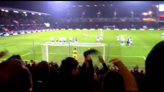 Andy carroll's penalty for westhamunited vs spurs