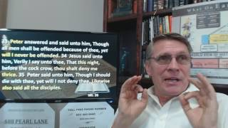 Dr. Kent Hovind Bible Study 1-26-2017 Mt. 26:33-38 How will you react under pressure?