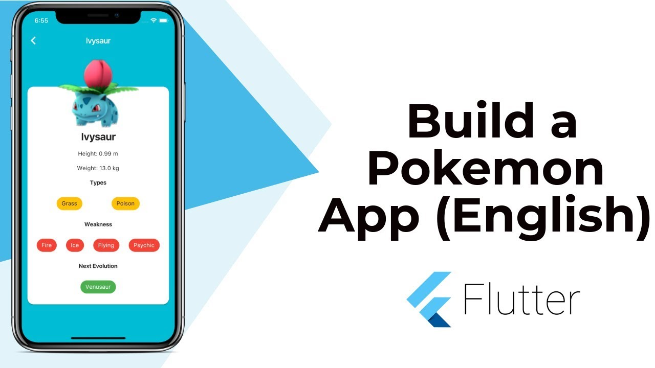 Flutter: Build a Beautiful Pokemon App | Animation | Widgets | JSON API