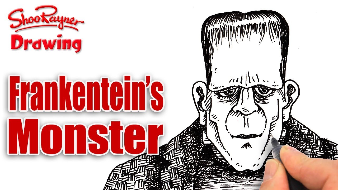 How To Draw Frankenstein 39 S Monster Youtube