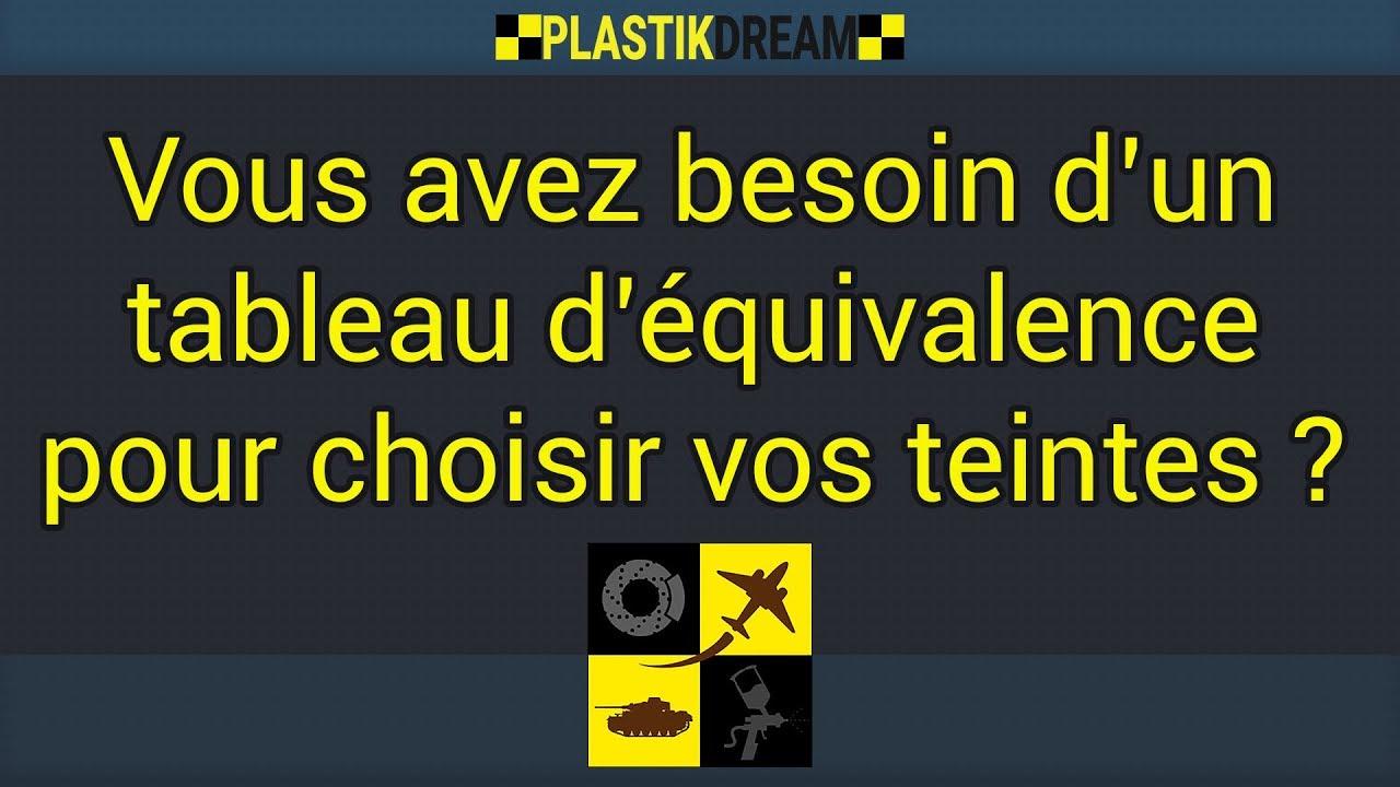 Plastikdream Maquette Tableau D Equivalence Couleur Youtube