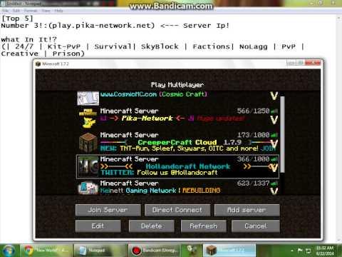 Minecraft 1.7.2 Servers Top 5! (crack)