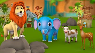 The Lion King's Proposal 3D Animated Hindi Kids Moral Stories शेर का सुझाव हिन्दी कहानी Fairy Tales
