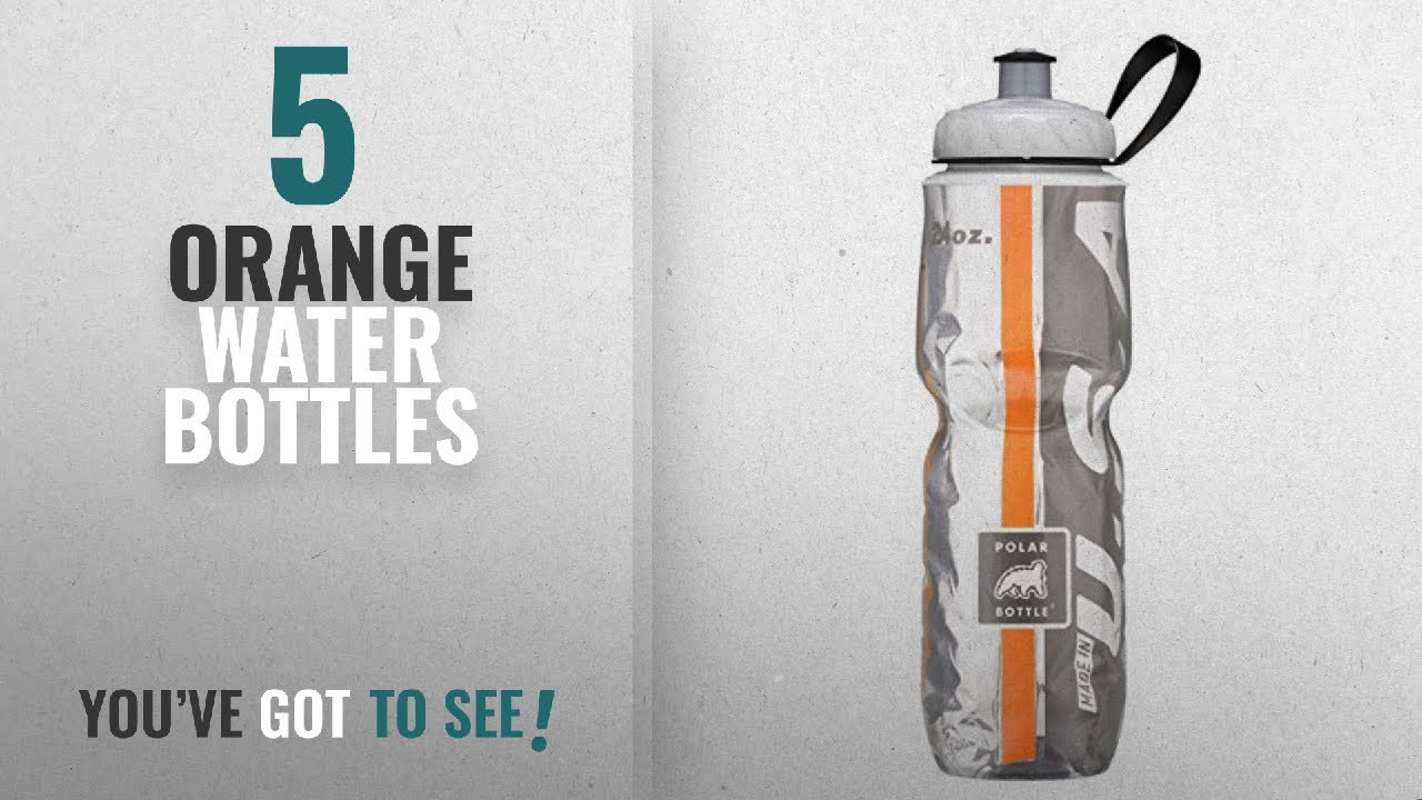 be542ab9b1 Best Orange Water Bottles [2018]: Polar Bottle Insulated Water Bottle (24- Ounce) (Orange/Black)