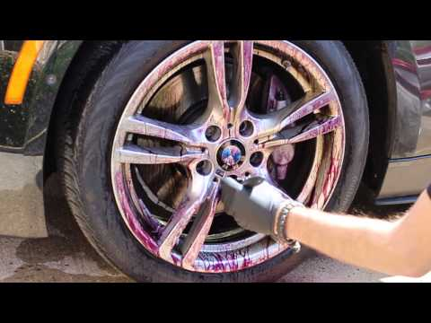 Iron X demo on BMW wheels - Anthony's Auto Detailing