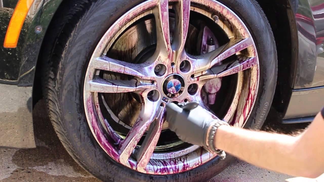2014 BMW 335I >> Iron X demo on BMW wheels - Anthony's Auto Detailing - YouTube