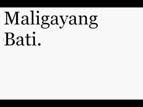 Maligayang pagdating in bisaya words