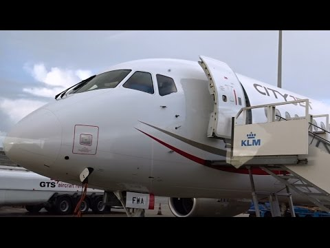 Cityjet - Sukhoi Superjet 100 - A special Scenic flight over The Netherlands