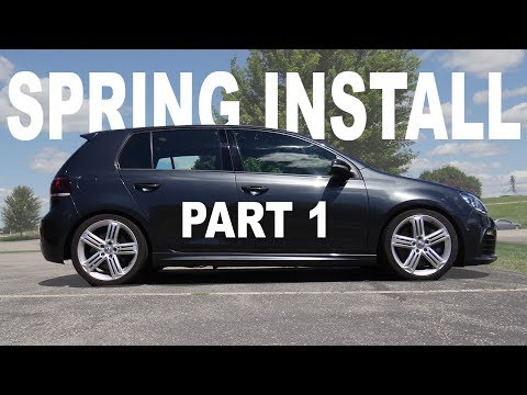 How to Install Springs on a MK6 VW Golf, R, GTI – [PART 1]
