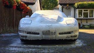Supercharged Corvette Wash & Carnauba Wax Application