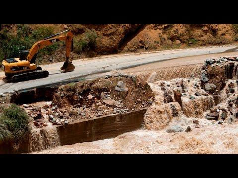 Huarochirí: Carretera Central bloqueada por desborde de río Rímac
