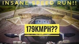 KTM DUKE 390 Insane Speed Run! Raw video  