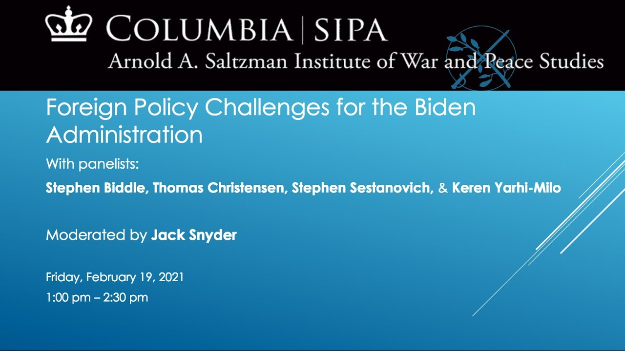 Foreign Policy Challenges for the Biden Administration