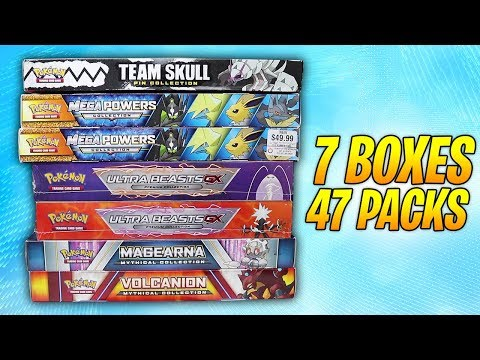 Opening 7 Pokemon Collection Boxes (47 Booster Packs!)