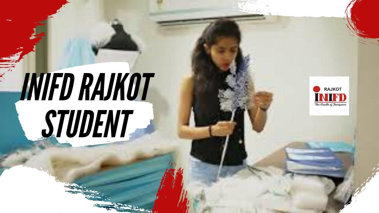Inifd Rajkot Student Drashti Jivrajani Behind The Scene Of Fashion Show Inifd Rajkot Youtube