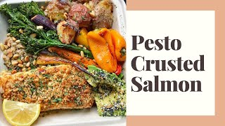 EASY PESTO CRUSTED SALMON RECIPE | my most popular recipe