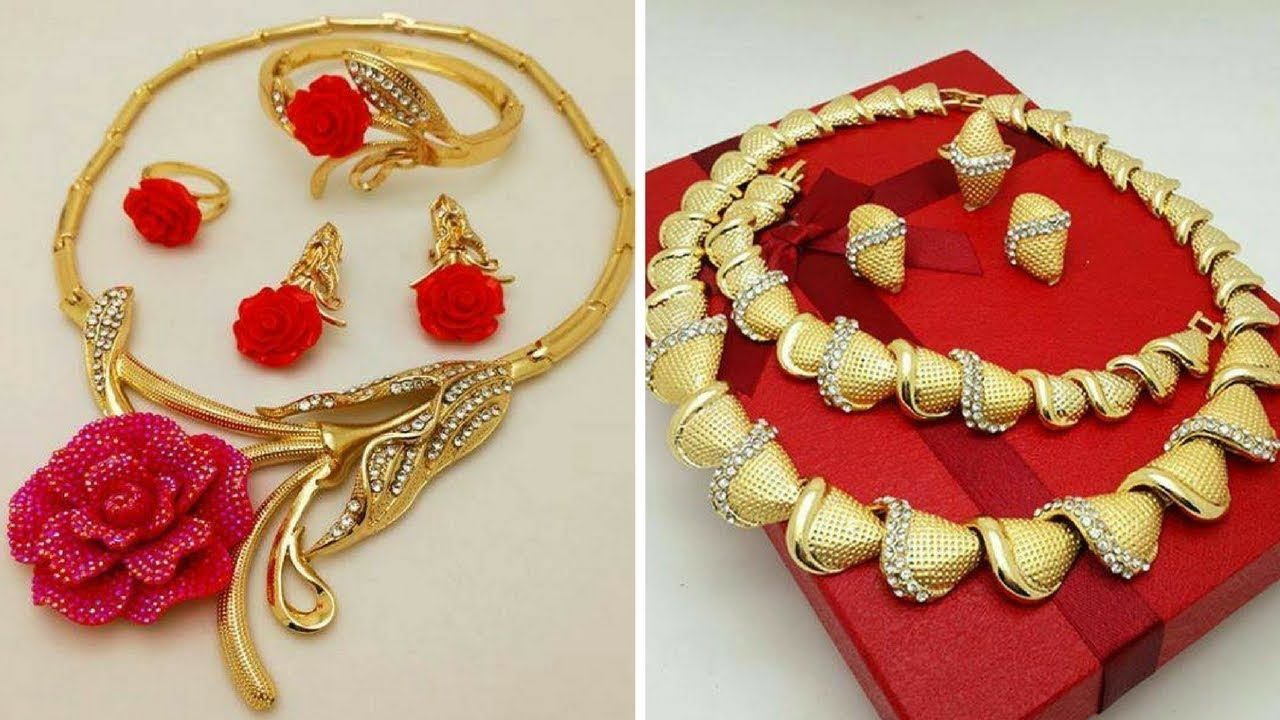 22 Carat Gold Necklace Arabic Designs //2017 - YouTube