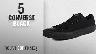 Top 5 Converse Black [2018]: Converse Unisex Chuck Taylor All Star Low Top Monochrome Black