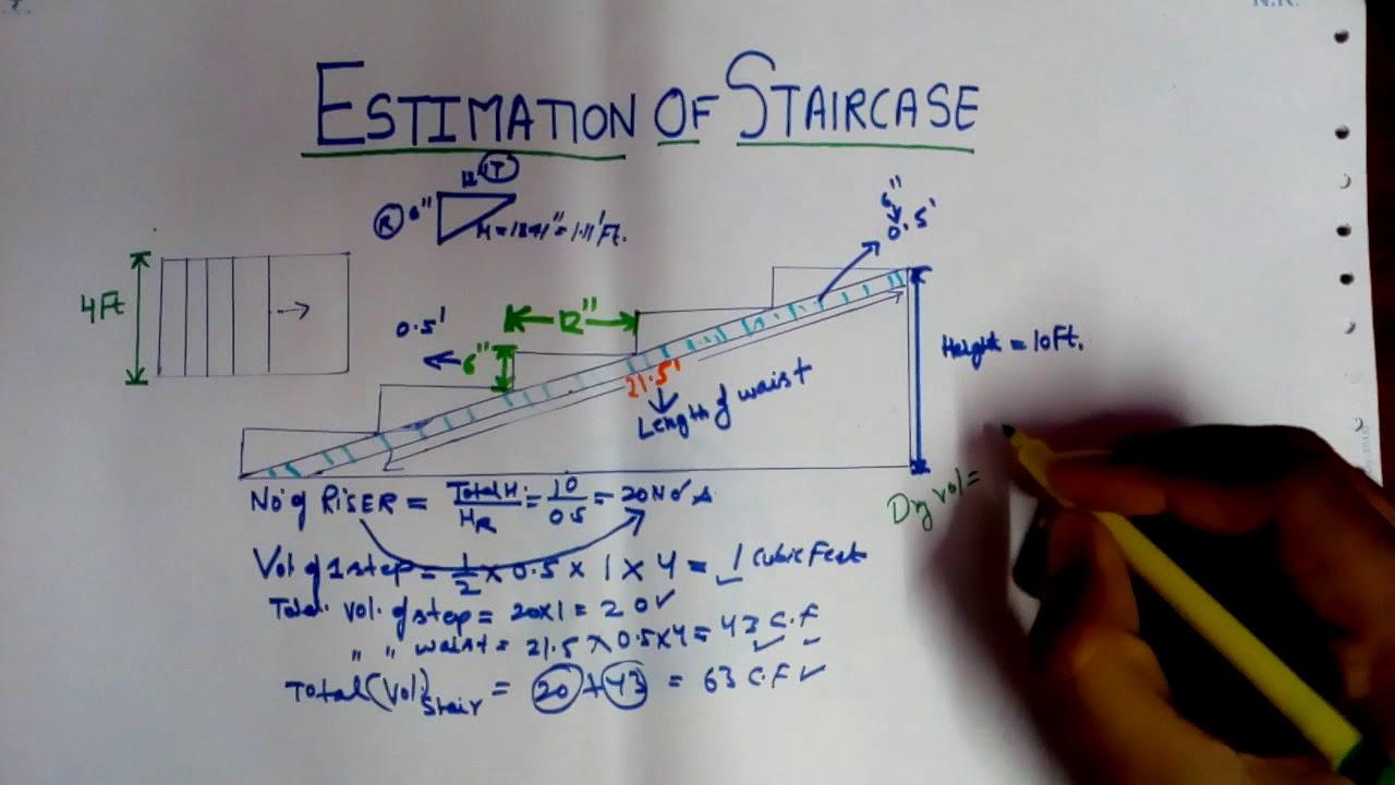 Elegant Estimation Of Staircase | Design Of Staircase |