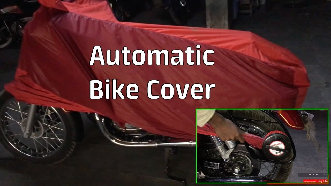 Semi Automatic Bike Cover all type of bikes | we can carry anywhare with bike effortlessly | Teqlife