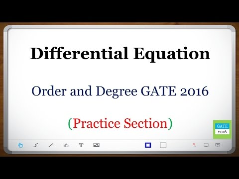 Differential Equation (GATE): Order and Degree GATE (Practice Section)