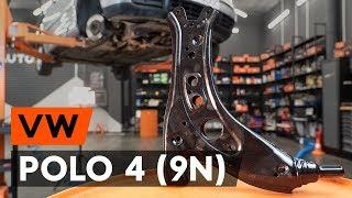 Kā nomainīt priekšējās svira VW POLO 4 (9N) [AUTODOC VIDEOPAMĀCĪBA]
