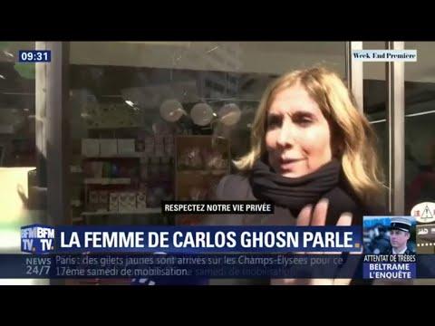 La femme de Carlos Ghosn témoigne trois jours après la sortie de prison de son mari