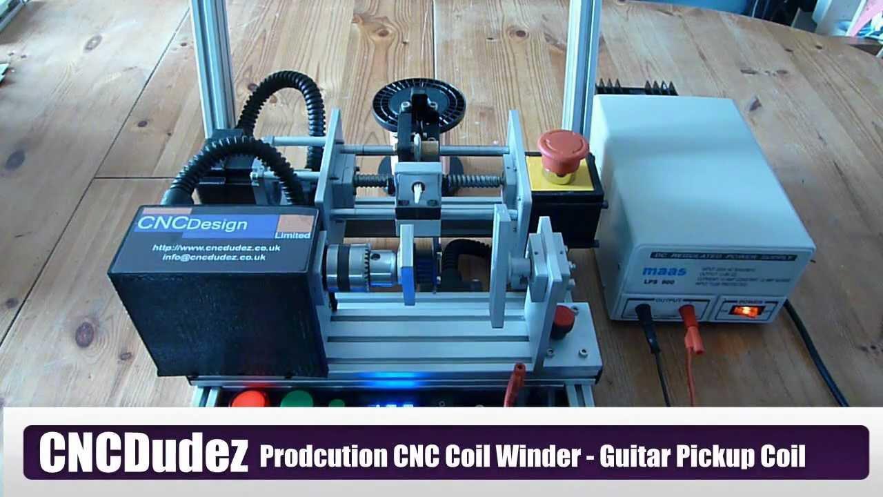 cncdudez production cnc coil winder mk1 winding a guitar pickup coil youtube. Black Bedroom Furniture Sets. Home Design Ideas