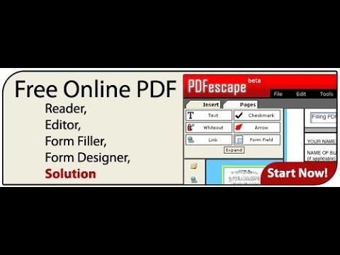 how to use pdfescape free pdf editor