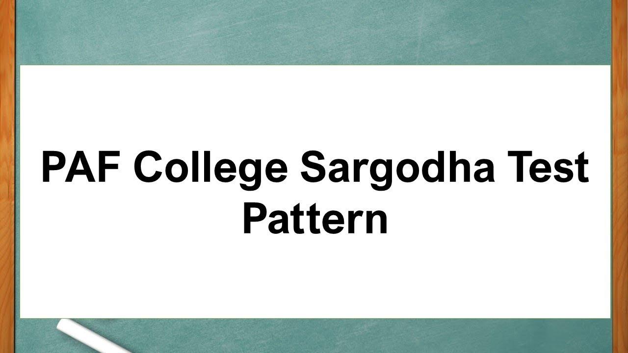 PAF Public School Sargodha Admission 2018 8th Class